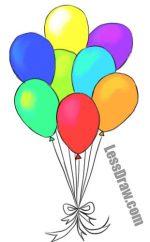 Как нарисовать карандашом воздушные шарики – 🎈Как нарисовать шарики карандашом поэтапно
