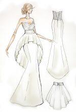 Картинки карандашом платья – Эскизы платьев карандашом для начинающих дизайнеров с фото