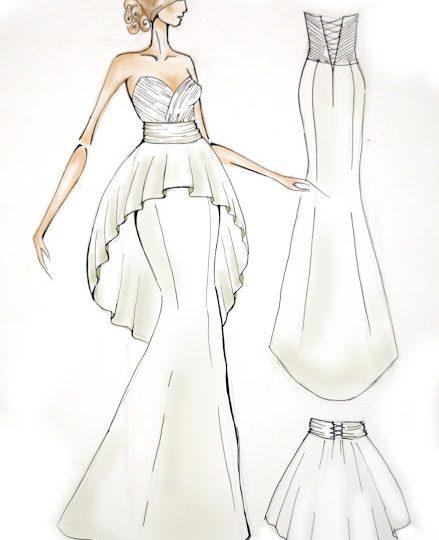 425edf841ecdf7b Картинки карандашом платья – Эскизы платьев карандашом для начинающих  дизайнеров с фото