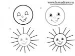Нарисованное солнце карандашом – Как нарисовать солнце?