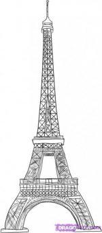 Нарисовать эльфивую башню карандашом – Как нарисовать Эйфелеву башню?