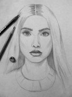 Портрет девушки рисовать – Портрет девушки карандашом поэтапно для начинающих