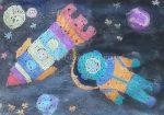 Космос рисунок карандашом детский – 5-7