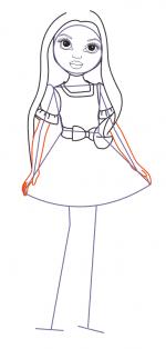 Куколки нарисованные – Как нарисовать куклу карандашом поэтапно?
