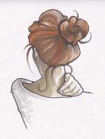 Нарисованные картинки карандашом девушек со спины – Ой!
