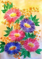 Осенние цветы в вазе рисунок – Как нарисовать осенний букет?