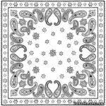 Поэтапное рисование платка – Как нарисовать платок с узорами?