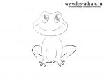 Рисуем лягушку пошагово – Как нарисовать лягушку карандашом поэтапно?