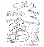 Рисунок гуси лебеди 2 класс картинки – Как нарисовать сказку «Гуси-Лебеди»?