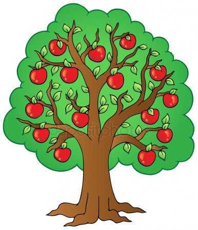 Детский рисунок яблоня – Как нарисовать яблоню карандашом ...