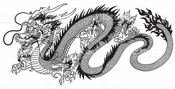 Драконы китайские рисунки – Ой!