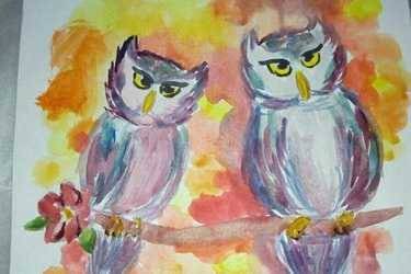 0d389342c394 Как гуашью нарисовать сову – . -