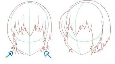 Как рисовать волосы девушки шаг 3