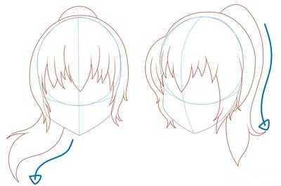 Как рисовать волосы девушки шаг 4