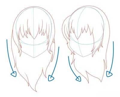 Как рисовать волосы девушки шаг 5