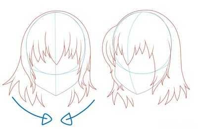 Как рисовать волосы девушки шаг 6