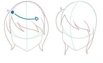 Как рисовать волосы девушки шаг 7