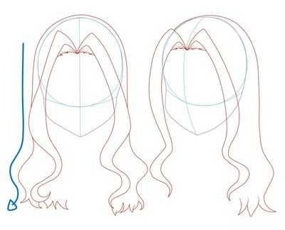 Как рисовать волосы девушки шаг 10
