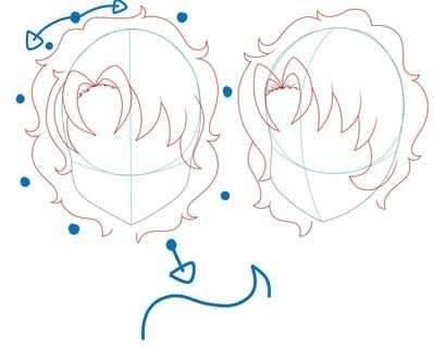 Как рисовать волосы девушки шаг 13