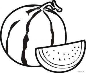 Картинка раскраска арбуз для детей – Раскраска арбуз