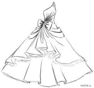 50bfb7f58019da6 Нужно просто взять карандаш и начать срисовывать платья с образцов.  Постепенно вы научитесь рисовать оригинальные наряды по своим собственным  идеям.