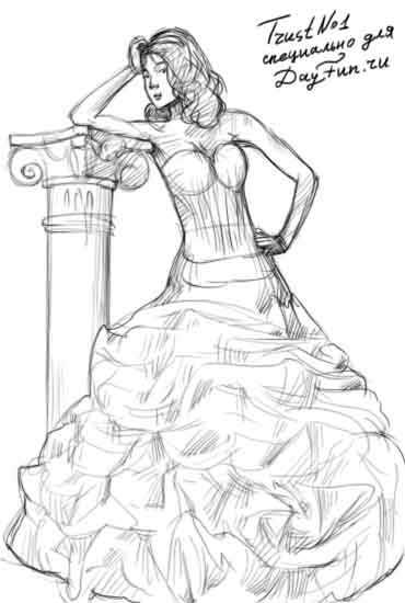db9c62a4e7f9a2d Теперь вы знаете, как научиться рисовать платья. Удачи Вам и успехов!  Смотрите другие мои уроки о рисовании одежды:
