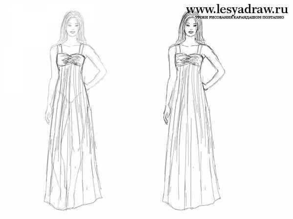 fcdc59b252d Нарисовать девушку в платье – Как нарисовать девочку в платье ...
