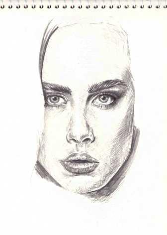 Как нарисовать волосы в портрете