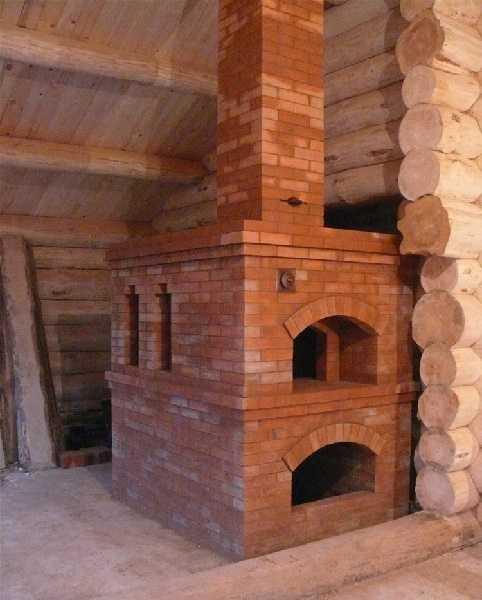построить русскую печь на улице