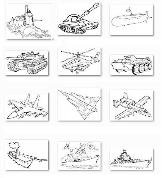 Раскраски военной техники для мальчиков – Раскраски ...