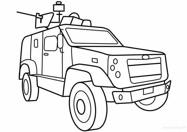 Разукрашки военные – Раскраски Военная техника распечатать ...