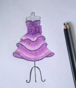 7788e6a8eaf Рисуем платья карандашом – Как нарисовать красивое платье карандашом ...