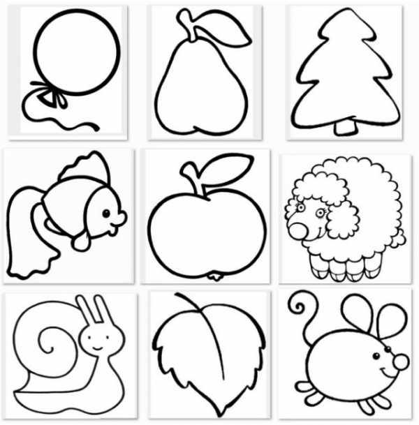 Рисунки для маленьких девочек – Раскраски для девочек 3,4 года