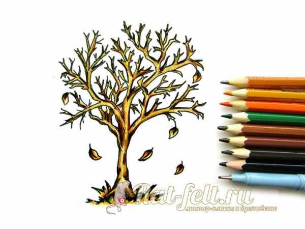Рисунок дерева с листьями – Шаблоны и картинки листьев ...