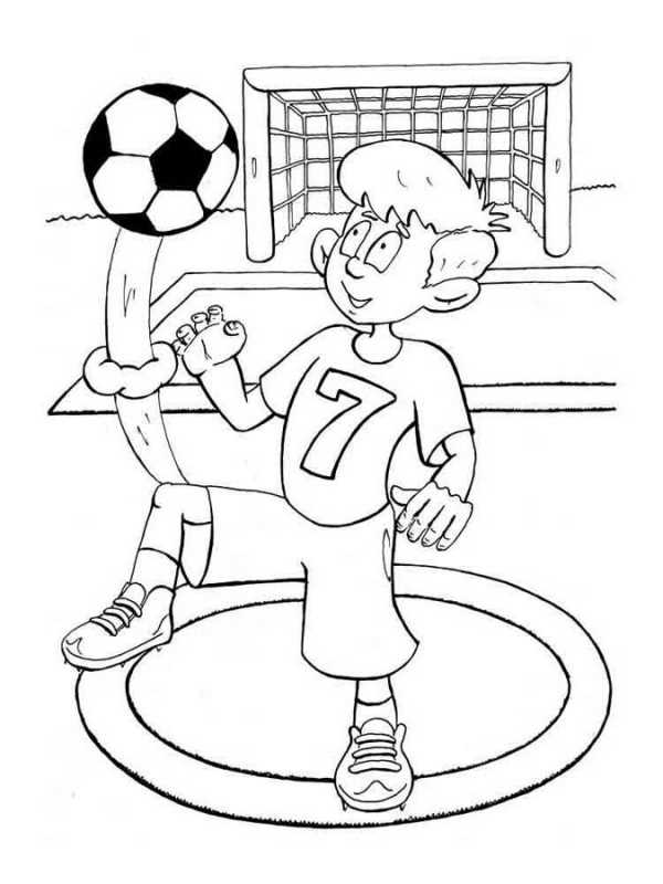 рисунок футбол
