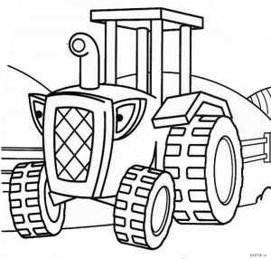 Трактор разукрашка – Раскраска Трактор — Распечатать ...